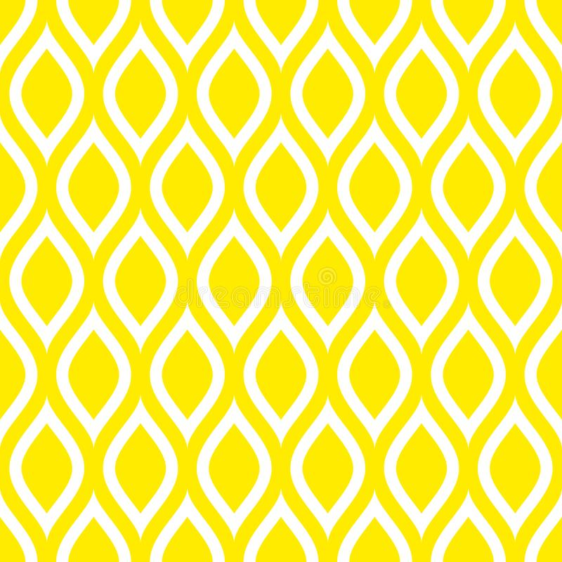 Abstract Naadloos van Patrooncitroenen of Golven Geel Vierkant vector illustratie