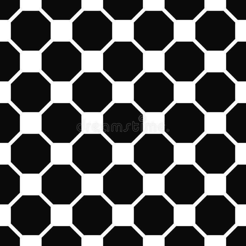 Abstract naadloos zwart-wit achthoekpatroon royalty-vrije illustratie