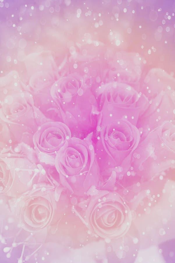 Abstract nam bloem met bokehachtergrond gemaakte pastelkleur toe royalty-vrije stock foto's