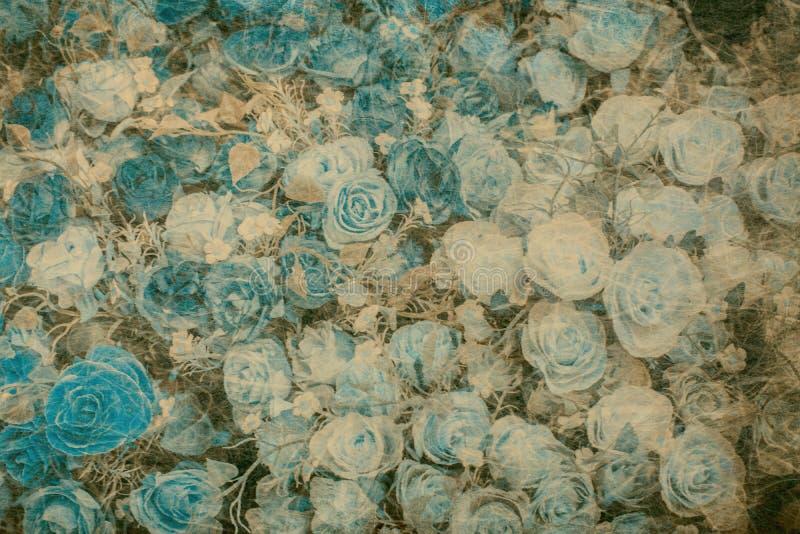 Abstract nam bloem op het document van de moerbeiboomtextuur toe royalty-vrije stock foto
