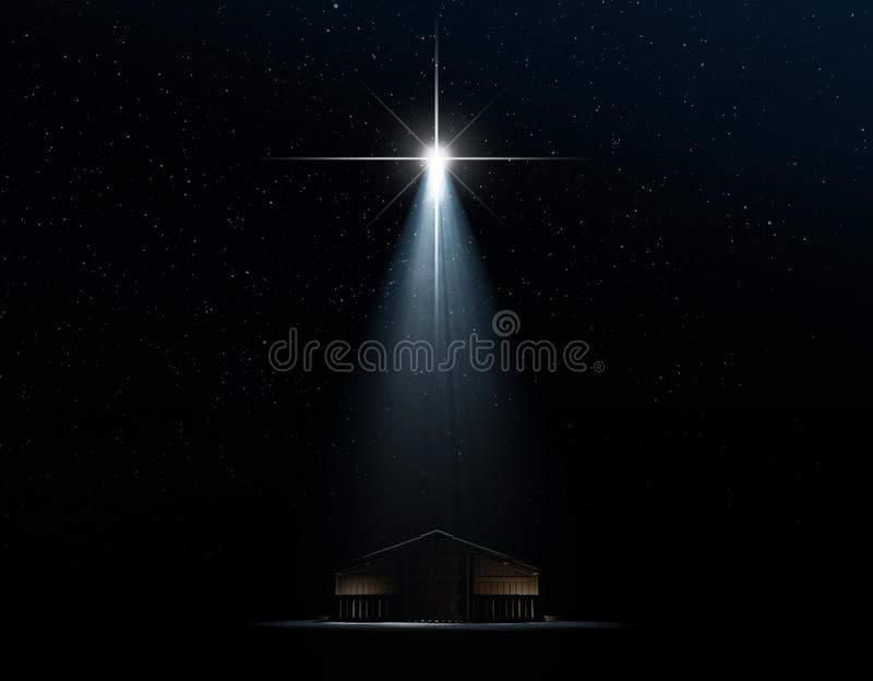 Abstract Nativity Scene vector illustration