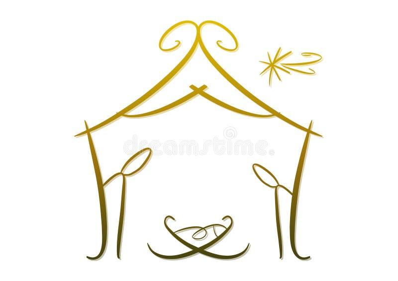 Abstract nativitysymbool