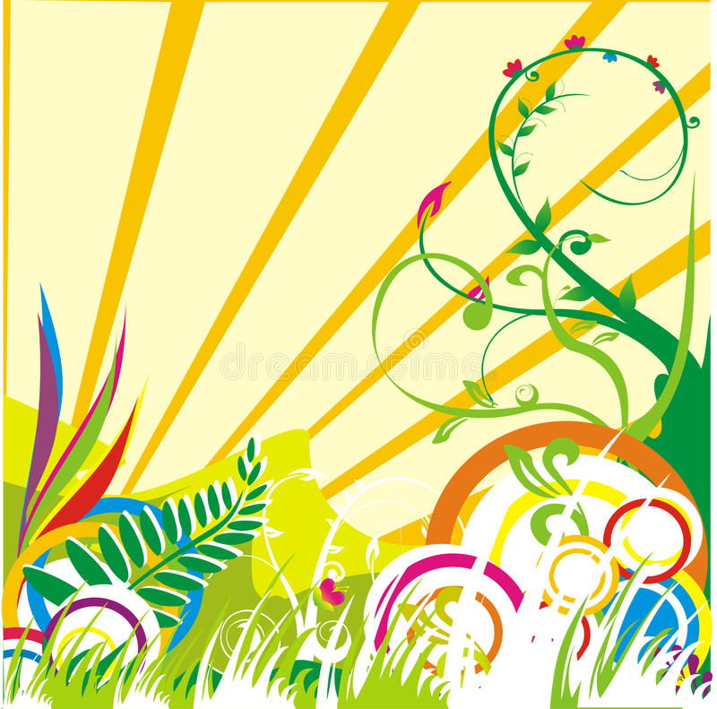 Download Abstract nature stock vector. Illustration of floral, leaves - 9807952
