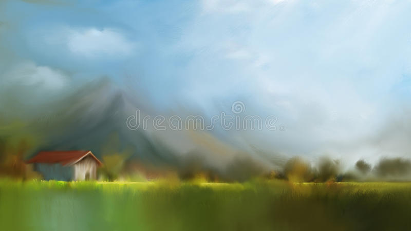 Abstract nature background with Beautiful Morning. vector illustration