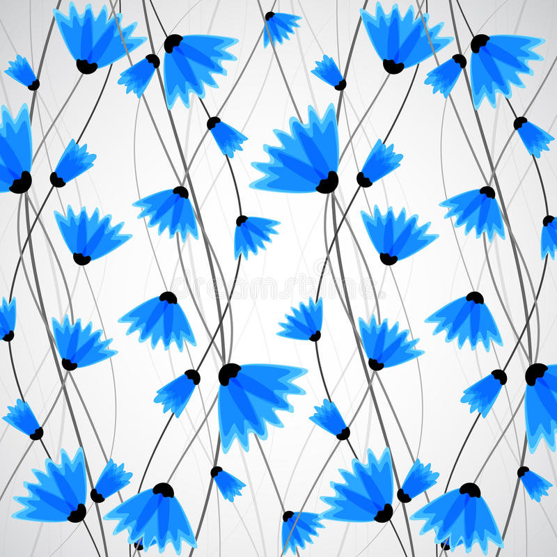 Abstract nature background. Blue cornflowers. royalty free illustration