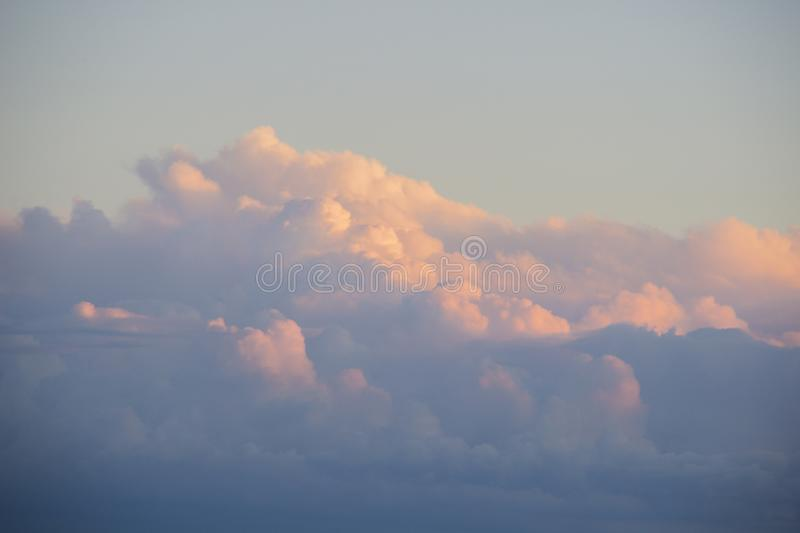 Abstract nature background. Dramatic and moody pink, purple and blue cloudy sunset sky. royalty free stock photo