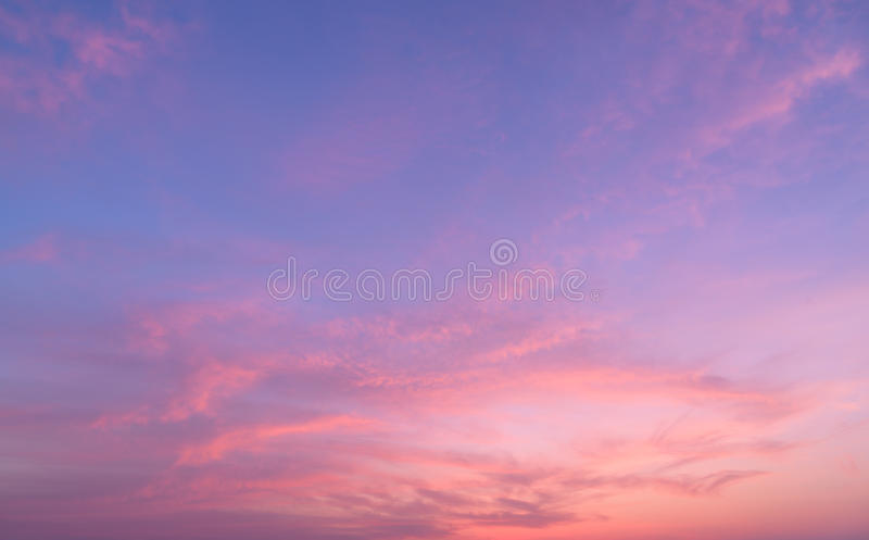 Abstract nature background.Moody pink, purple clouds sun set sky royalty free stock photography