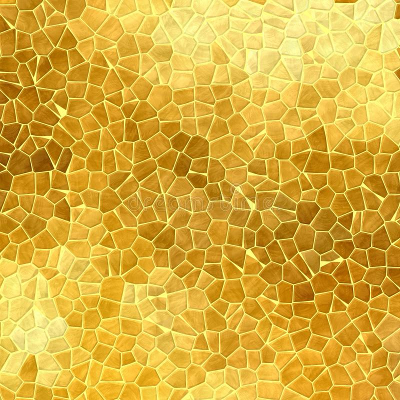 Abstract nature marble plastic stony mosaic tiles texture background gold colors royalty free illustration