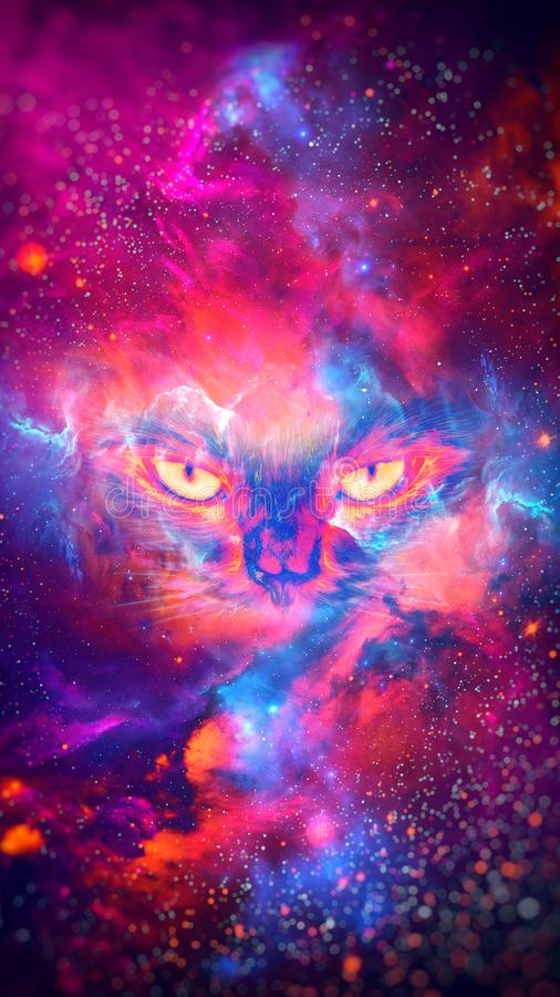 Abstract nebula cat background - 8K resolution. Abstract nebula cat background. High Quality and up to UHD 8K resolution