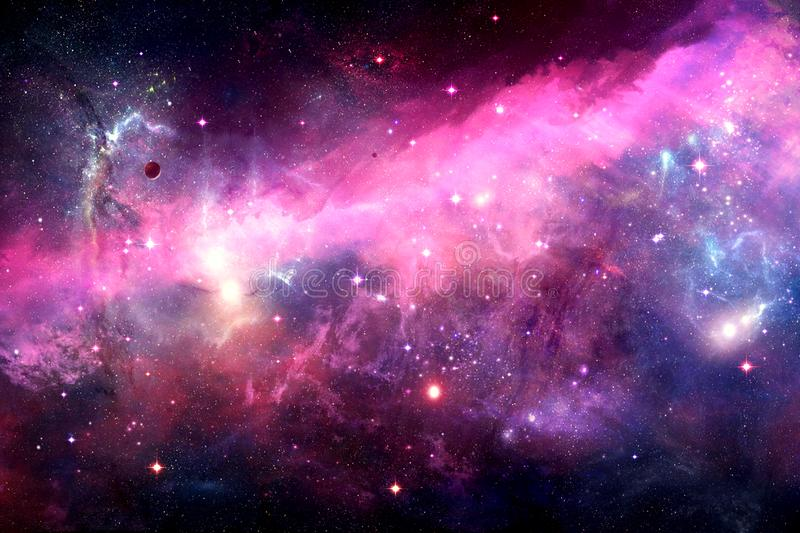 Abstract Nebula Galaxy In Space Of Night Sky With Cloud And Stars royalty free stock image