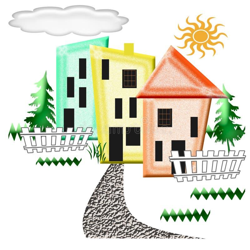 Download Abstract neighborhood stock illustration. Illustration of town - 7022752