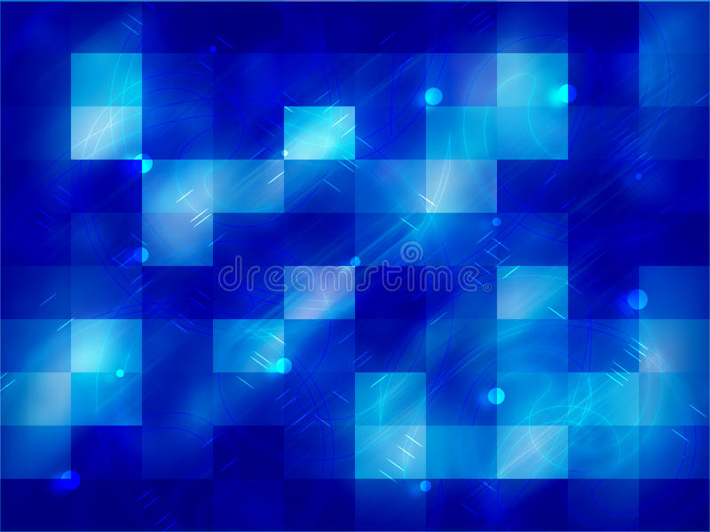 Abstract neon blue background with squares royalty free illustration