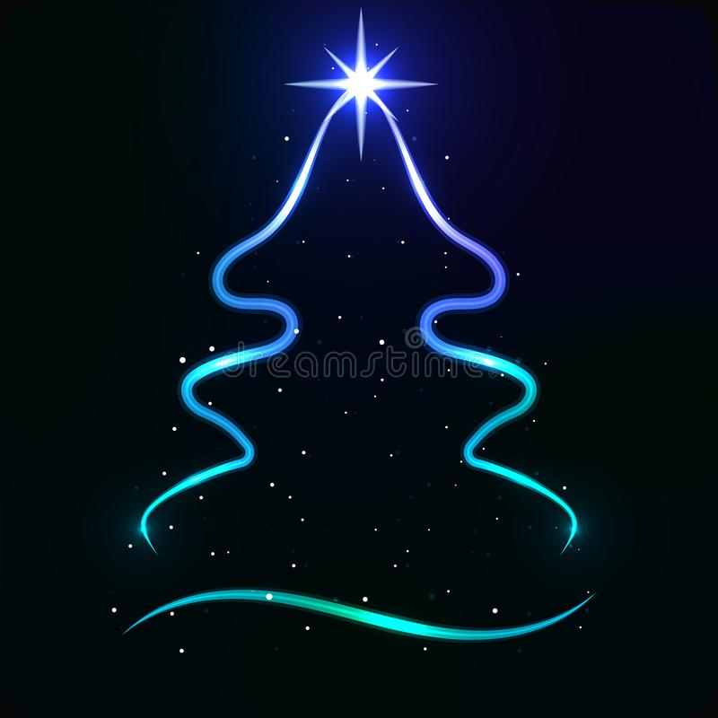 Free Abstract Neon Christmas Tree Stock Images - 163543334