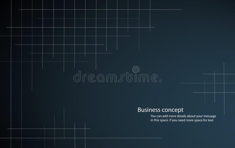 Abstract netpatroon en donkerblauwe vectorillustratie als achtergrond royalty-vrije illustratie