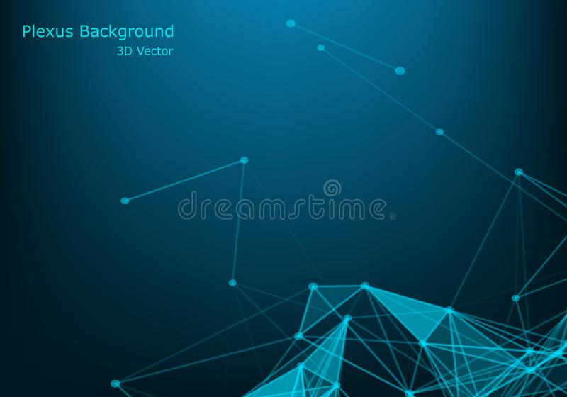 Abstract network connection background. Polygonal Cyber Structure. Data Connection Concept.  vector illustration