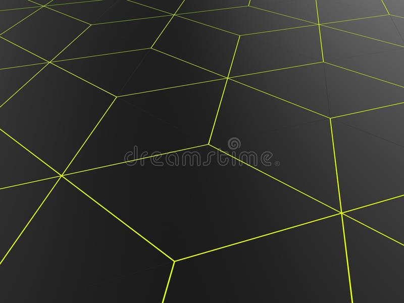 Abstract network pattern - bright green outlines vector illustration