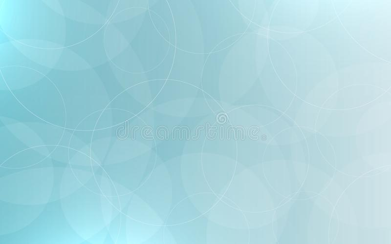 Abstract neutral background. Smooth bubbles and circles. Blue backdrop with highlights. Calm gray gradient for app or stock illustration