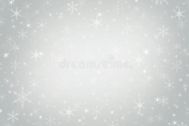 Abstract silver grey Christmas winter background stock photo