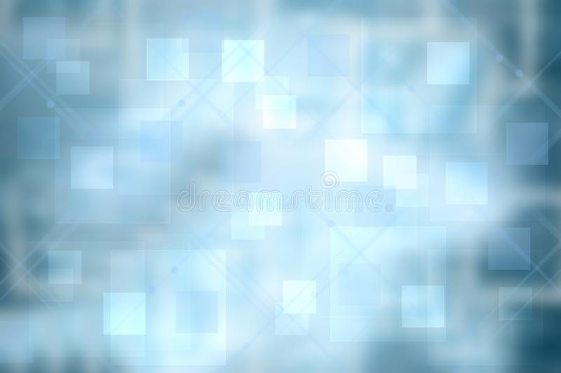 Abstract new communication and technology background texture. A blurred blue futuristic illustration with geometric connected. Lines between squares. Beautiful vector illustration