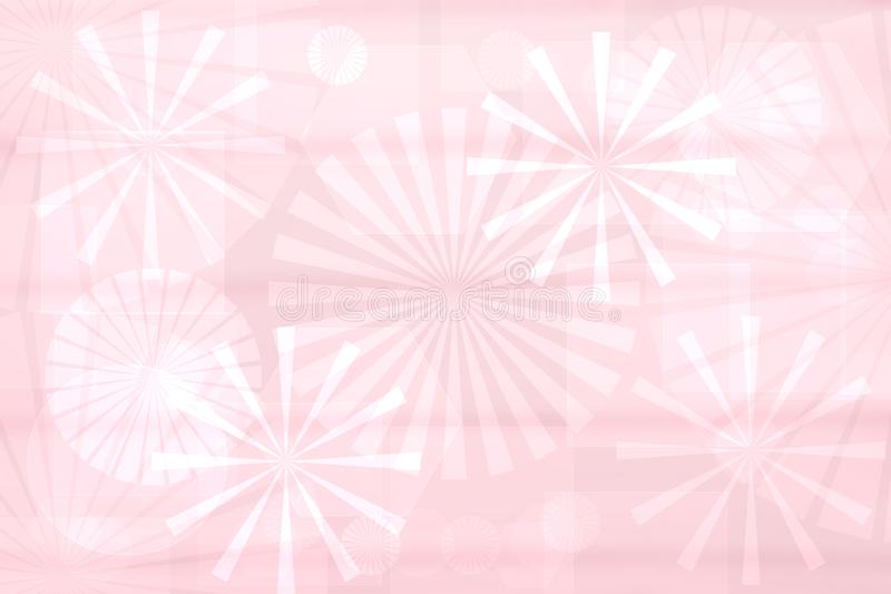 Abstract new technology backdrop. Abstract elegant light pink modern futuristic fractal background texture with mixed geometrical vector illustration