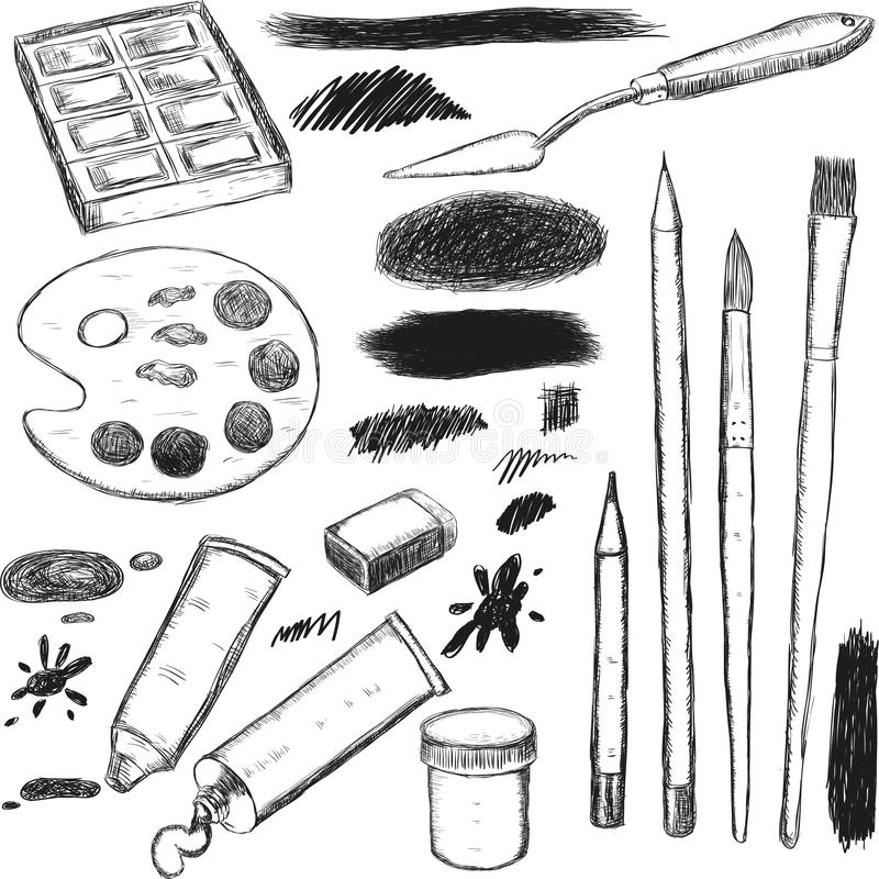 drawing graphics objects royalty free stock image