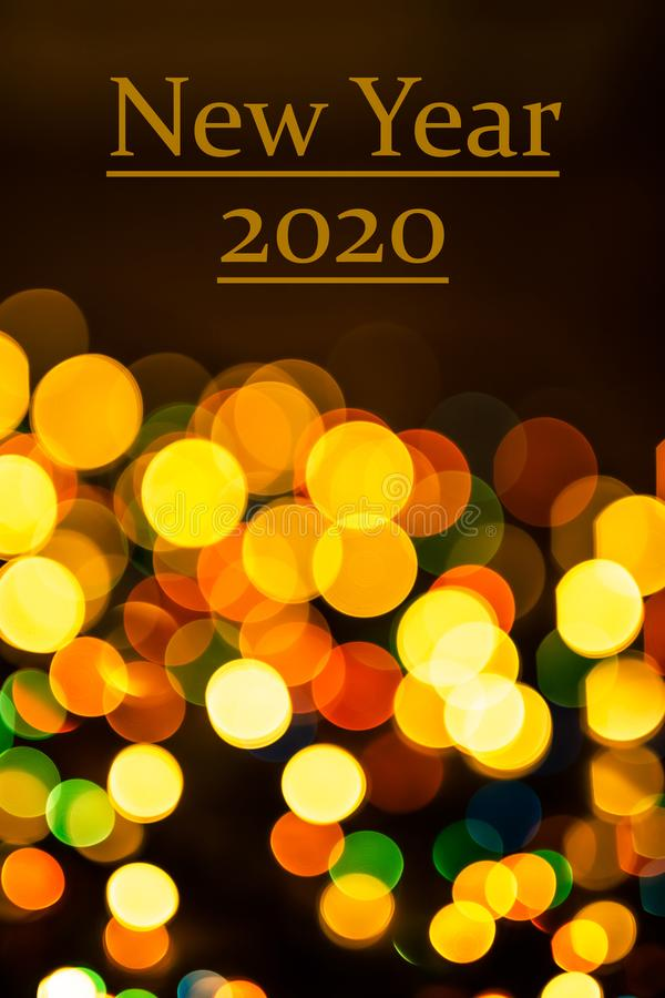 Abstract new year pattern with bokeh lights. stock images