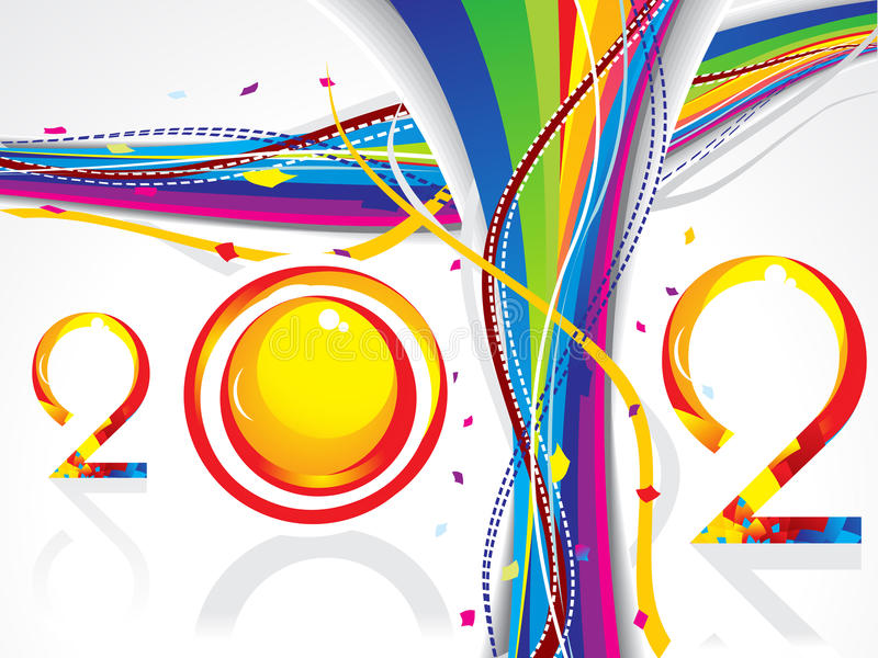Abstract new year wave background royalty free illustration