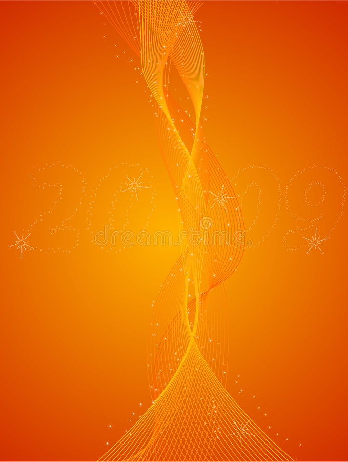 Abstract New Years Eve Orange Background Royalty Free Stock Photo