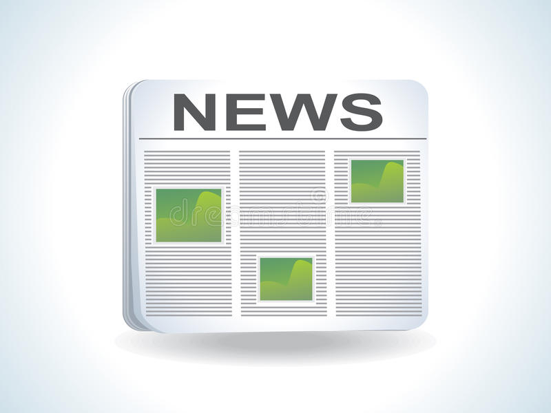 Download Abstract news icon stock vector. Image of blue, picture - 14596593