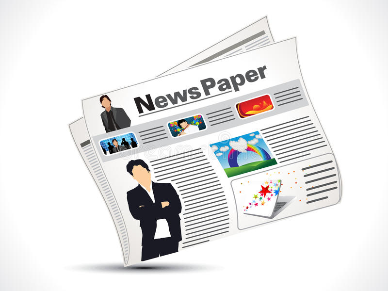 Abstract news paper icon. Vector illustration royalty free illustration
