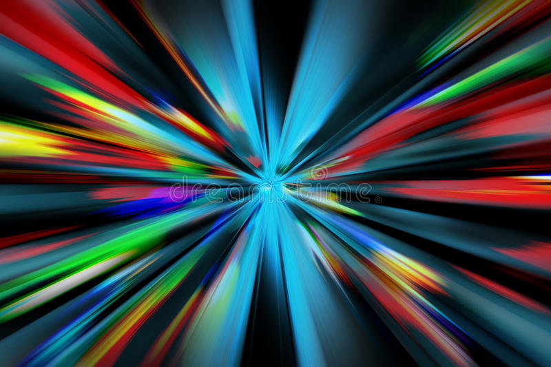 Abstract night acceleration. Speed motion stock photography
