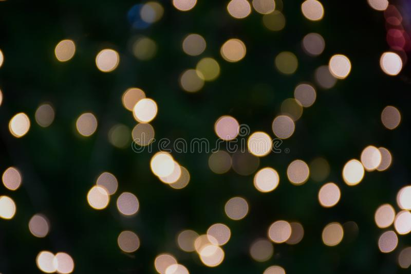 Abstract night blurred bokeh of light background. Out of focus bokeh.  stock photography