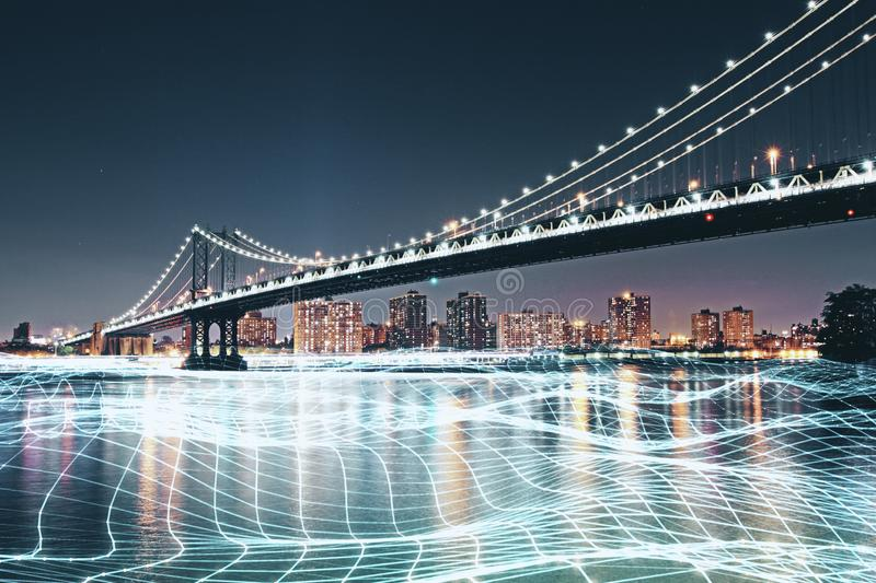 City wallpaper with grid stock photography
