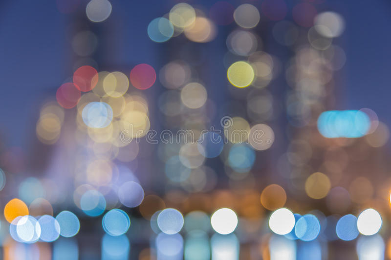 Abstract, night cityscape light blur bokeh, defocused background. stock images