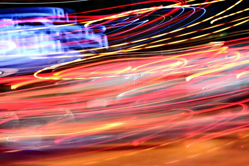 Abstract night light background on the move stock images