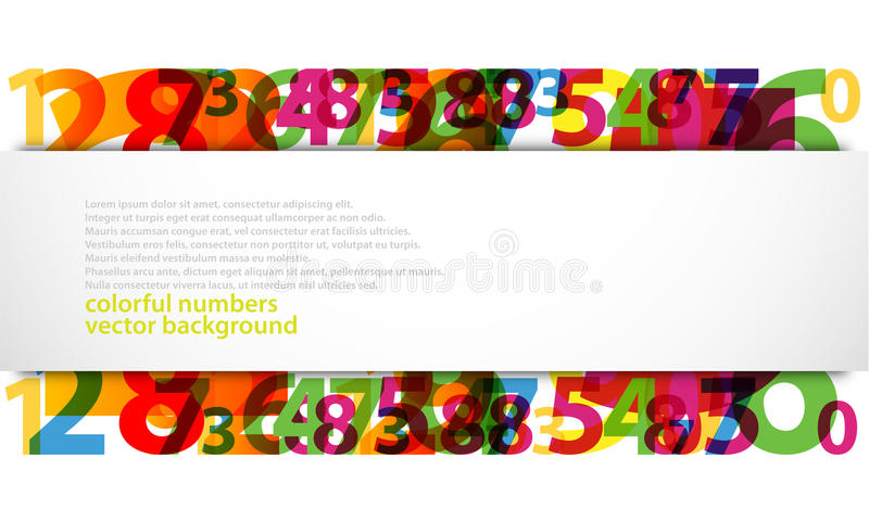 Abstract Numbers vector illustration