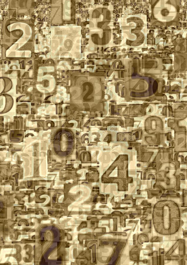 Free Abstract Numbers Royalty Free Stock Photography - 619407