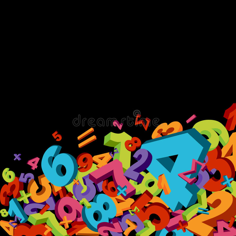 Abstract numbers background vector illustration