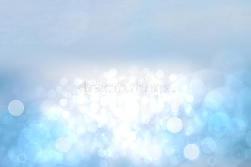 Abstract ocean background. Abstract bright tropical ocean with sun and blue cloudy sky. Backdrop for summer holidays and travel vector illustration