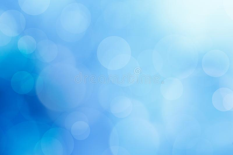 Abstract ocean blue bokeh background. stock photo