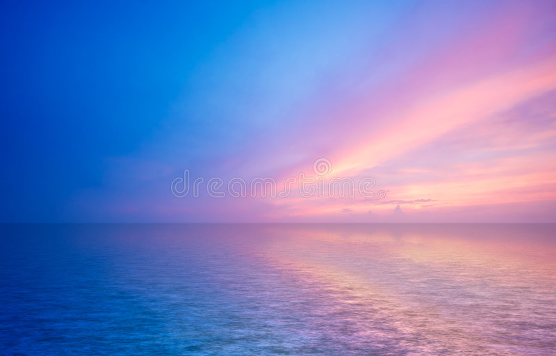 Download Abstract ocean and sunset stock photo. Image of scenery - 1516110