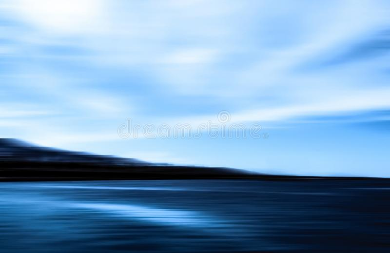Abstract ocean wall decor background, long exposure view of dreamy mediterranean sea coast. Coastal art, holiday destination and luxury travel concept - Abstract stock photography