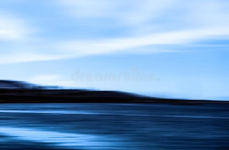 Abstract ocean wall decor background, long exposure view of dreamy mediterranean sea coast. Coastal art, holiday destination and luxury travel concept - Abstract stock illustration