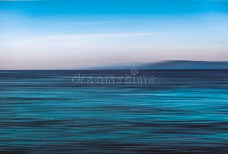 Abstract ocean wall decor background, long exposure view of dreamy mediterranean sea coast. Coastal art, holiday destination and luxury travel concept - Abstract stock photos
