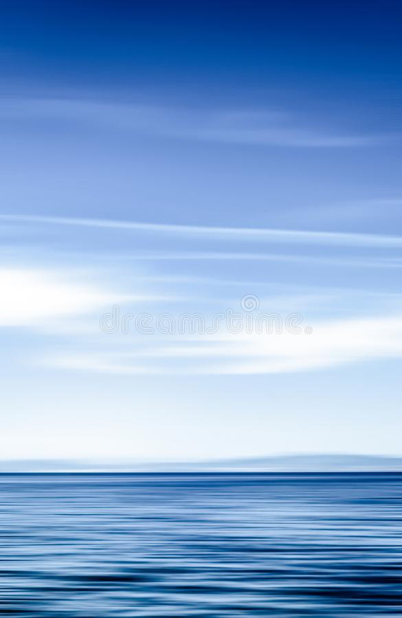 Abstract ocean wall decor background, long exposure view of dreamy mediterranean sea coast. Coastal art, holiday destination and luxury travel concept - Abstract stock image