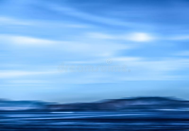 Abstract ocean wall decor background, long exposure view of dreamy mediterranean sea coast. Coastal art, holiday destination and luxury travel concept - Abstract royalty free stock photography