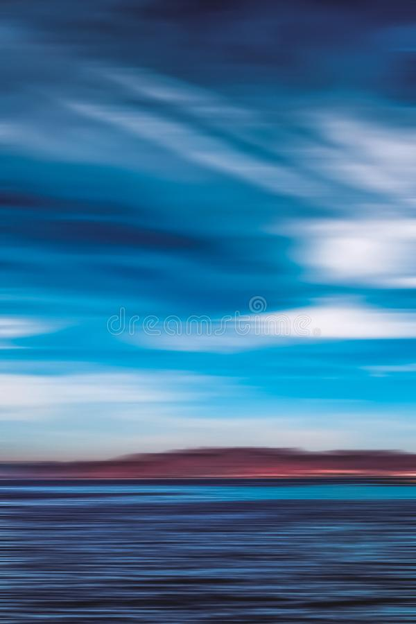 Free Abstract Ocean Wall Decor Background, Long Exposure View Of Dreamy Mediterranean Sea Coast Royalty Free Stock Image - 160443496