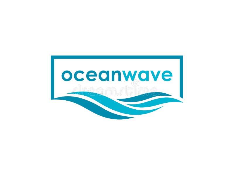 Abstract ocean wave logo design inspiration stock illustration