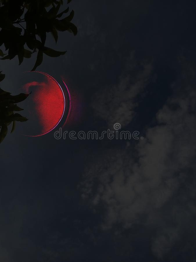 Free Abstract Of The Lunar Eclipse And Dim Sky Royalty Free Stock Photo - 158609745