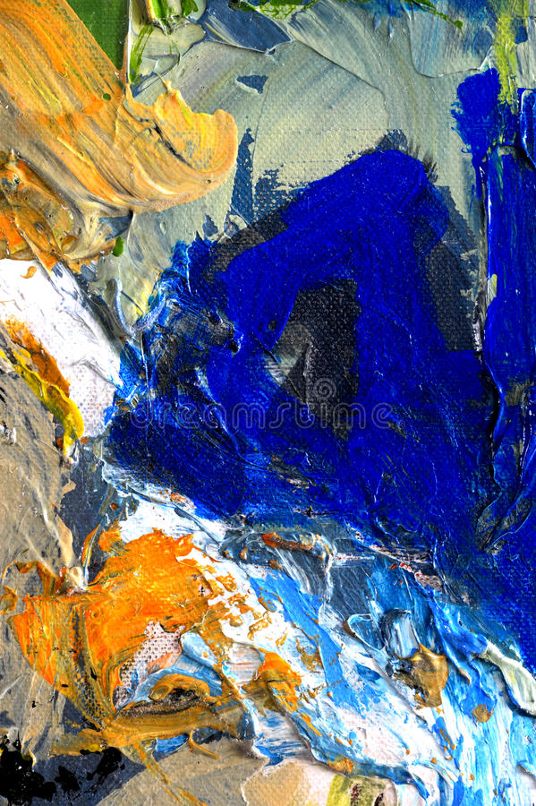 Abstract Oil. Nice Large scale Original abstract Oil Painting On Glass royalty free stock photography